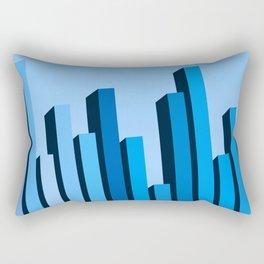Blue Buildings Rectangular Pillow