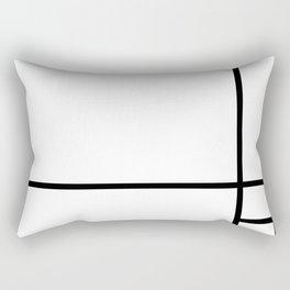 Line Abstract Art Rectangular Pillow