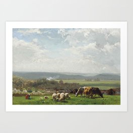 Auguste Bonheur, Pasture in Auvergne Art Print