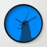 dalek Wall Clocks featuring Dalek by Taylor Starnes