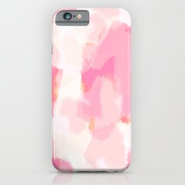 Adonia - blush pink abstract art iPhone Case