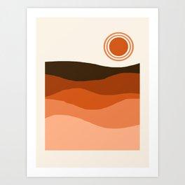 Choice - retro 70s style vibes sunset mountains desert ocean minimalist decor hipster 1970s Art Print