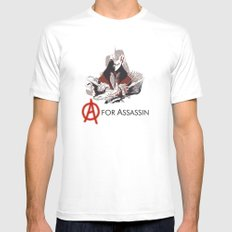 A for Assassin Mens Fitted Tee White MEDIUM