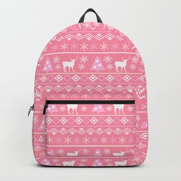 Pastel Pink Nordic Pattern  Backpack