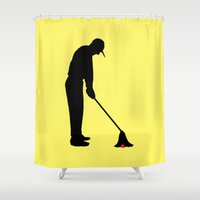 golf Shower Curtains featuring GOLF by INNOCENT DESIGNER