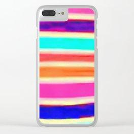 Rainbow Bomb Clear iPhone Case