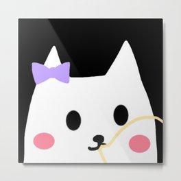 cat chewing gum-24 Metal Print