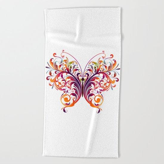 Multicolor Butterfly Beach Towel
