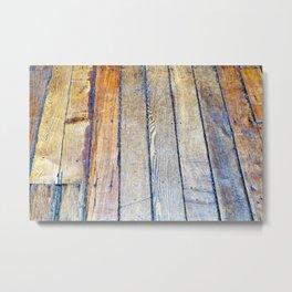 Floorboards Metal Print