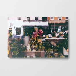 NYC Floral Shop Metal Print