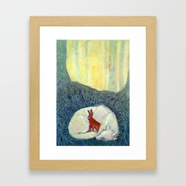 Insomniatic Hare Framed Art Print