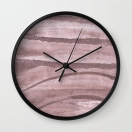 Rosy brown colored watercolor design Wall Clock