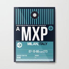 MXP Milan Luggage Tag 2 Metal Print