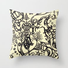 Birdbrain Throw Pillow