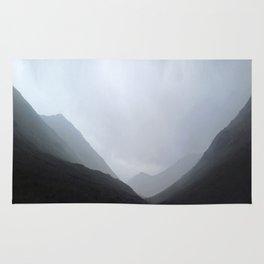 Back in the crouching mountains... Glencoe, Scotland Rug