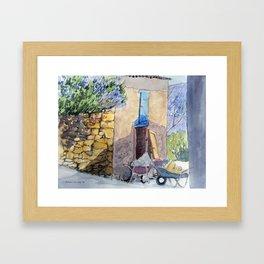 Wheelbarrows Framed Art Print