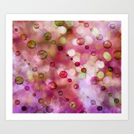 Cryptic fancy light in vibrant colors Art Print