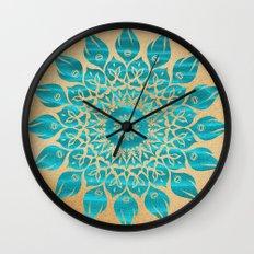 Summer Mandala Wall Clock