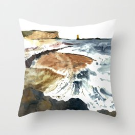 coast&waves Throw Pillow