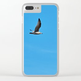 Alone in the sky Clear iPhone Case