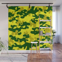 Camouflage (Yellow) Wall Mural