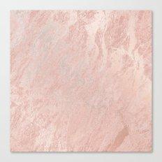 Rose Gold Foil Canvas Print
