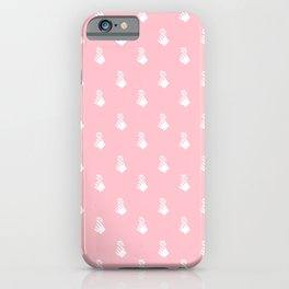 FINGER HEART AEGYO PATTERN Pink iPhone Case