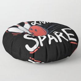 Living on a Spare   Bowling Floor Pillow