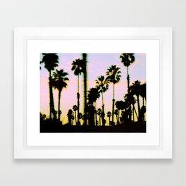 California Dreaming Palm Trees Sunset Framed Art Print