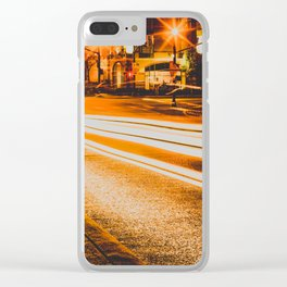 Time Lapse / Photography / Streetlights / Night Clear iPhone Case