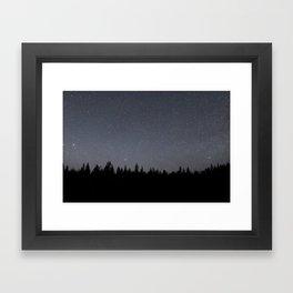 night sky in northern michigan  Framed Art Print