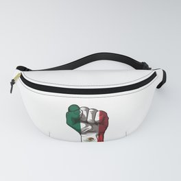 Raised Fist for Mexico | Mexican Flag Fanny Pack