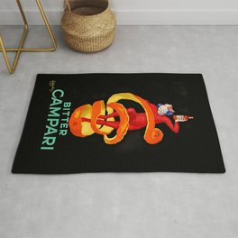 Leonetto Cappiello Bitter Campari Advertising Poster Rug
