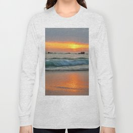 Golden sunset with turquoise waters Long Sleeve T-shirt