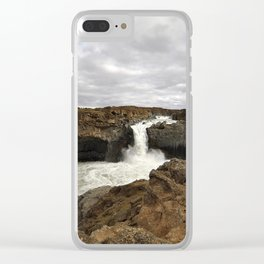 Aldeyjarfoss. Clear iPhone Case