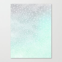 Organic Celestial Geometry on concrete and mint Canvas Print