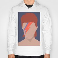 bowie Hoodies featuring Bowie by Zoebellsmith