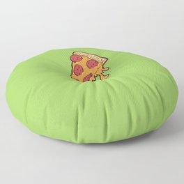Cheesy Pepperoni Pizza Slice Floor Pillow