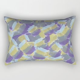 Violet,yellow,gray abstract flowers pattern Rectangular Pillow