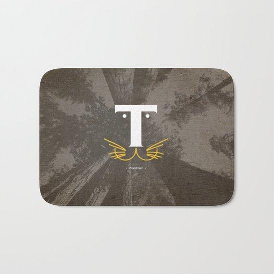 T for Tiger #Typo Bath Mat