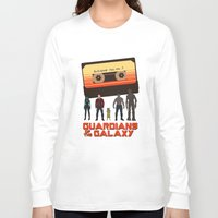 guardians of the galaxy Long Sleeve T-shirts featuring GUARDIANS OF THE GALAXY by Kaitlin Smith
