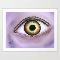 Eclipse Eyes Art Print