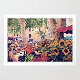 Market Days In France Art Print