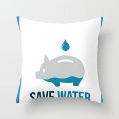 SAVE WATER Throw Pillow