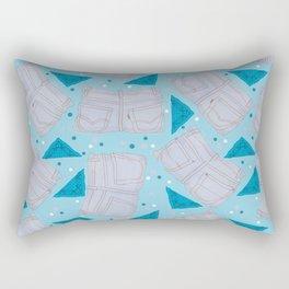 Faded Jeans & Bandanas Rectangular Pillow
