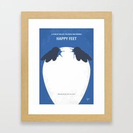 No744 My Happy Feet minimal movie poster Framed Art Print