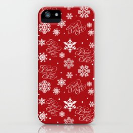 Peace and joy iPhone Case