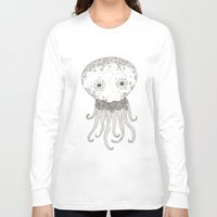 cracked Long Sleeve T-shirts featuring Cracked Octopus by joannaciolek