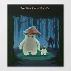 Take Your Kid To Work Day Canvas Print