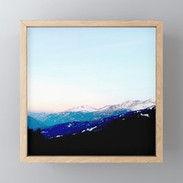 Mountain views abstracted to color blocks Framed Mini Art Print